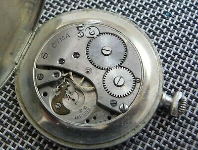 Antique Vintage Pocket Watch For Parts Or Repair Cyma Swiss Made • 22£