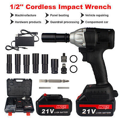 View Details 3IN1 Cordless Electric Impact Wrench Gun 1/2'' 800Nm Driver Drill W/ 2 Batteries • 89.98$