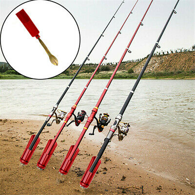 AU11.30 • Buy Stainless Steel Fishing Rod Stand Support Ground Holder Adjustable Pole Tool