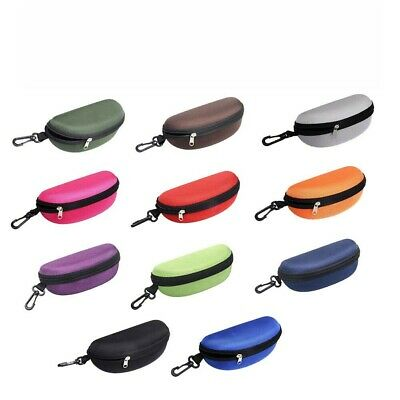 AU9.39 • Buy Portable Zipper Eye Glasses Sunglasses Clam Shell Hard Protector Case Box Pouch