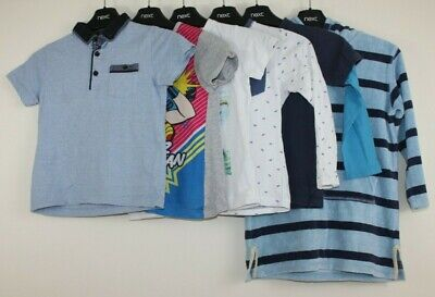 Boys Age 5-6 Years Bundle, T-shirts & Towelling Beach Hoody, Mango Next, 6 Items • 4£