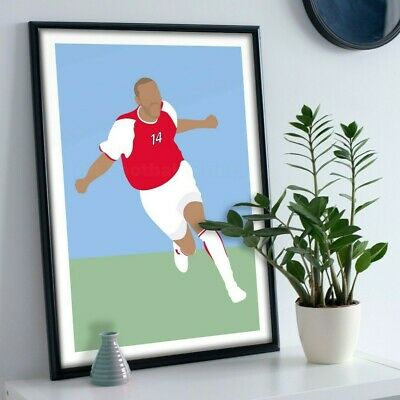 £11.99 • Buy Thierry Henry Arsenal Print Picture Football Art Poster A4 A3 A2 A1 (No Frame)