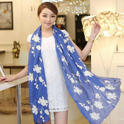 AU11.06 • Buy Accessories Scarf Women Scarf Embroidery Fashion Travel Ladies Scarves Wraps YD