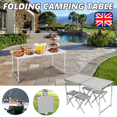 4FT Catering Camping Heavy Duty Folding Trestle Table Picnic BBQ Party Portable • 26.98£