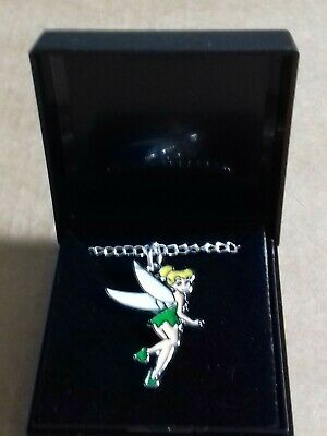Tinkerbell Necklace  NEW 18 INCH Silver Plated CHAIN  GIFT BOXED. FREE POSTSGE.  • 3.49£