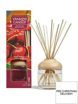 YANKEE CANDLE BLACK CHERRY REED DIFFUSER 120ML Home Fragrance GIFT XMAS • 16.99£