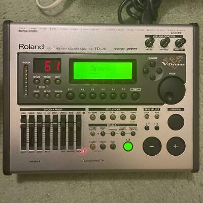 AU1019.60 • Buy Roland TD-20 V-Drums Drum Sound Module Sound Engine Electric Drum