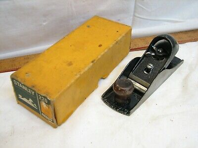Vintage Stanley 220 Woodworking Block Plane Wood Iron Tool Carpentry With Box • 57.88£