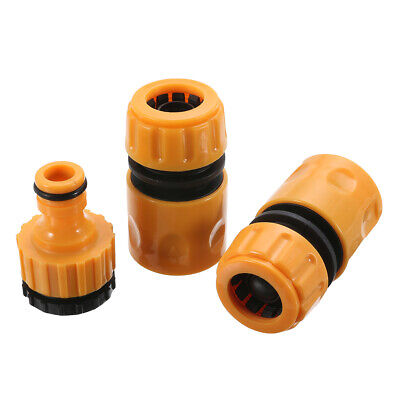 3pcs Garden Hose Connectors Set Watering Pipe Tap Connector Adaptor Fitting • 3.99£