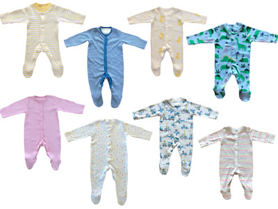 £2.85 • Buy Ex Mothercare Boys Girls Baby Babygrow Toddler Button Cotton Sleepsuit Playsuit