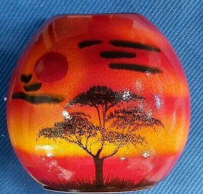 NEW BOXED African Sky 20cm Purse Vase Poole Pottery  • 99.99£