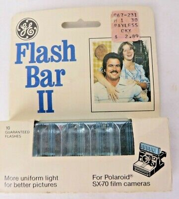 Vintage GE Flash Bar II For Polaroid SX-70 Cameras New Old Stock Sealed #10975 • 14.28£