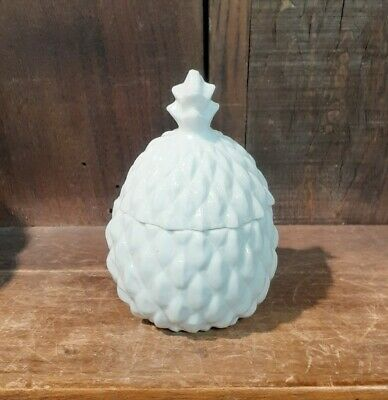 $ CDN30.38 • Buy Small Lidded Pineapple Shape Ceramic Jar Container Sugar Trinkets Jam Qtips 4.5