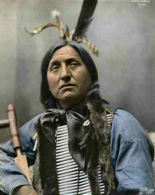 £8.99 • Buy A4 Print Native American Indian Sioux Indian Chief Left Hand Bear Oglala