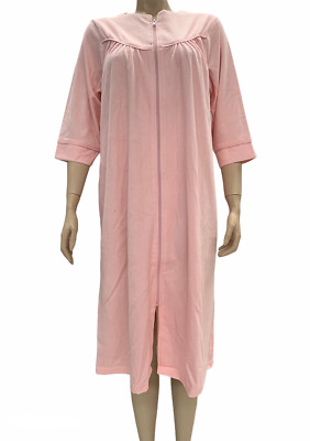Ladies Givoni Terry Dressing Gown 3/4 Sleeve Short Pink (87) • 44.32£