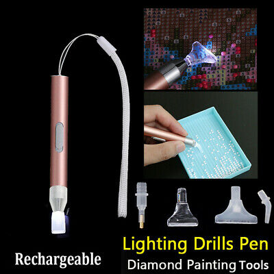 AU10.99 • Buy 5D Diamond Painting  Pen Diamond Painting Tool LED Light Point Drill Accessories