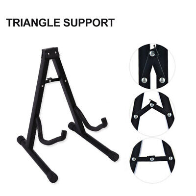 $ CDN38.99 • Buy Guitar Stand Acoustic Electric Bass A Frame Floor Rack Holder Hanger Foldable
