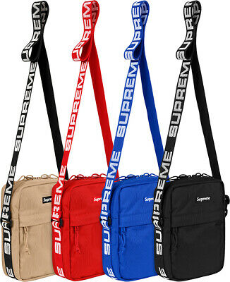 $ CDN78.19 • Buy New S/S18 Supreme Box Logo Cordura Fabric Shoulder Bag Red Royal Blue Black Tan