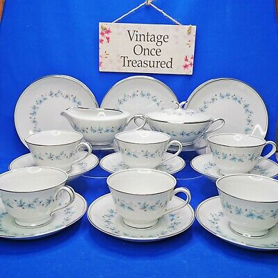 Noritake Japan CONCORD 6207 * 20 PIECE TEA SET * 6 X Trios, Milk Jug, Sugar Bowl • 49.95£