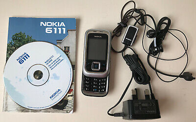 Nokia 6111 Slider Mobile Phone With Accessories • 45£