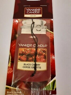 Yankee Candle Classic Car Jar Air Freshener Black Cherry  • 3£