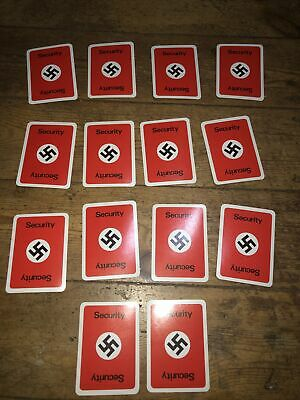Vintage Escape From Colditz Board Game 1973 Full Set Security Cards • 3.99£