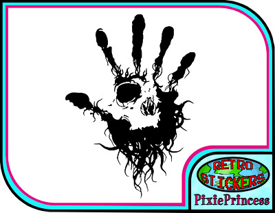 Skull Hand Death A Vinyl Sticker Car Van Wall Art Poster Horror Window Decal • 3.95£