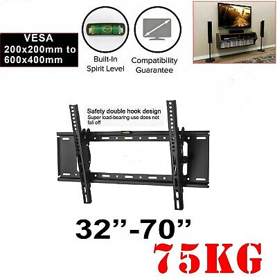 AU18.50 • Buy TV Wall Mount Bracket Tilt Slim LCD LED 32 40 42 47 50 55 60 62 65 70 80 Inch