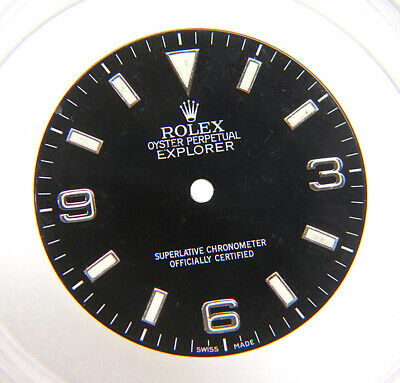 $ CDN587.99 • Buy Genuine Factory Rolex Explorer 14270 114270 Glossy Black Arabic Watch Dial