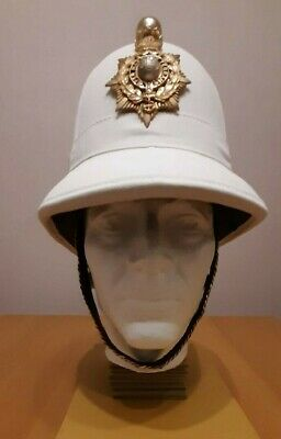 Royal Marine Officer's Pith Helmet Size 6 As Shown On The Makers Leather Mark • 400£