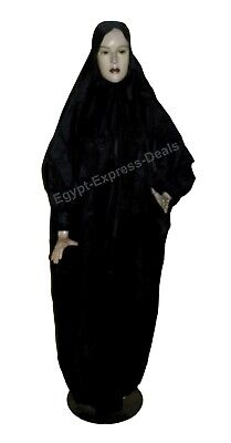 £9.33 • Buy Portable Prayer Dress With Pouch Muslim Women Isdal Cover Abaya Outfit Black