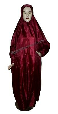 £9.33 • Buy Portable Prayer Dress With Pouch Muslim Women Isdal Cover Abaya Outfit Dark Red