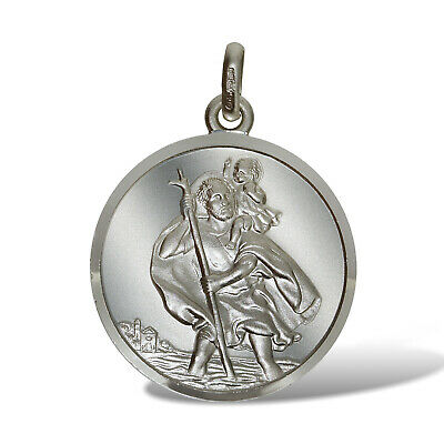 Sterling Silver St Christopher Pendants 10mm Ingot Travel Or Free Engraving Box • 5.99£