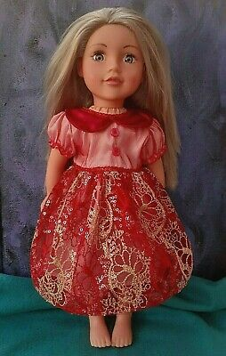 American Girl Our Generation Merry Christmas Party Dress 18 Inch Doll Clothes • 7.99£