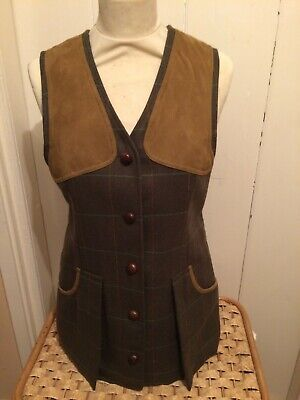 New Ladies Laksen Tweed Waistcoat Size XS (8) Was £350 Now £175 • 175£