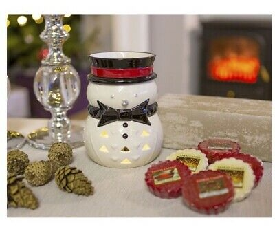 BN Christmas Electric Snowman Jackson Frost Wax Melt Burner Yankee Candle RRP£49 • 32£