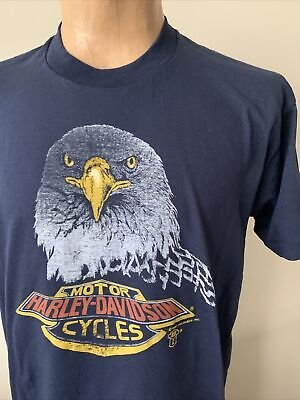 $ CDN45.73 • Buy Vtg Harley Davidson T Shirt 80s 90s Very Thin Holoubek Single Stitch USA Rare