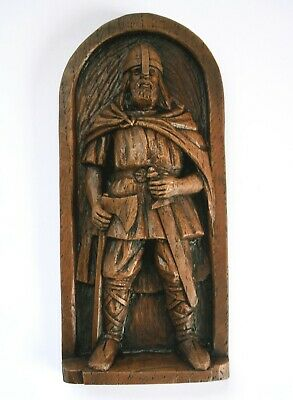 £16.99 • Buy Viking Warrior Pagan Norse Gift Hand Crafted Ornament Ragnar Scandinavian Plaque