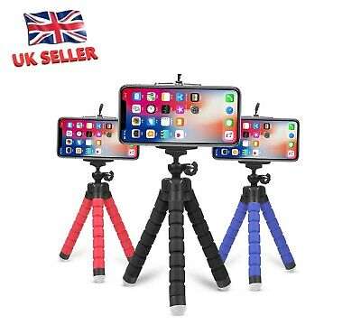 Universal Mini Mobile Phone Holder Tripod Stand Grip For IPhone Cameras - UK Sel • 4.59£