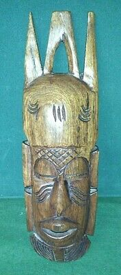 Vintage Carved Wooden Wall Hung African Mask  • 6.99£