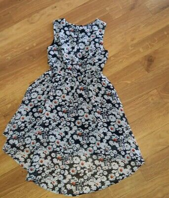 Girls Age 7-8 Years BlueZoo  Black Floral  Dress • 3.99£