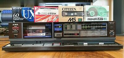 Aiwa Stereo Cassette Deck R450 QUICK REVERSE Vintage Tape Player *NEW BELTS* • 85£