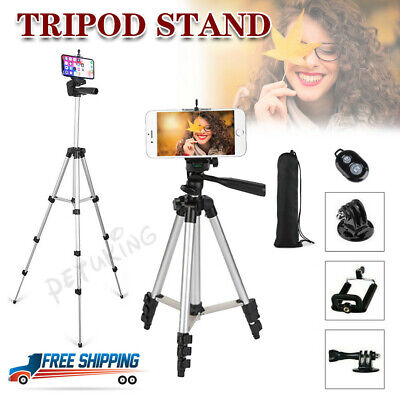 Universal Camera Tripod Stand Telescopic Phone Holder For IPhone Samsung Sony UK • 12.89£