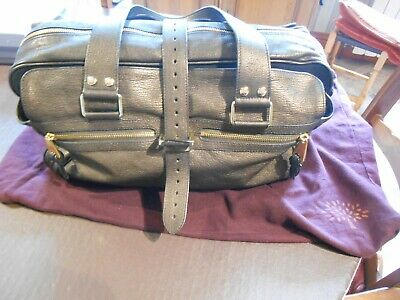Mulberry Large Metallic Black Mabel Hand Bag. Very Good Condition With Dust Bag • 525£