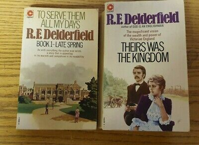 2 Vintage R F Delderfield Books - To Serve Them All My Days & Theirs Was The Kin • 10£