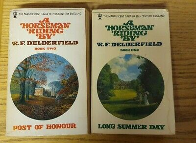 2 Vintage R F Delderfield Books - A Horseman Riding By Book 1 & 2 • 10£