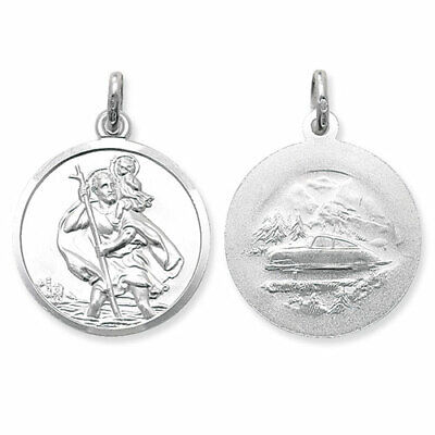 Sterling Silver St Christopher Pendants 27mm Ingot Travel Or Free Engraving Box • 5.99£