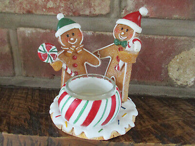 Yankee Candle Gingerbread Candy Cane Couple Votive/tealight Holder • 12.95£