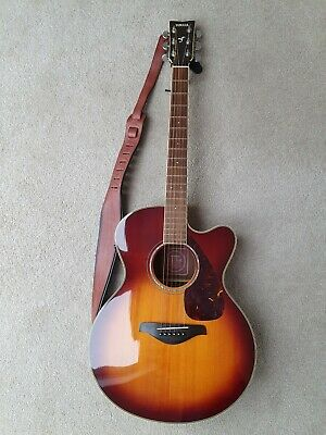 Yamaha  FJX 730 SC Acoustic-electric Guitar With Leather Strap & Gig Bag • 104£