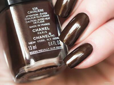 CHANEL Vernis CAVALIERE 526 Warm Chocolate Brown Golden Shimmer Nail Polish RARE • 19.95£